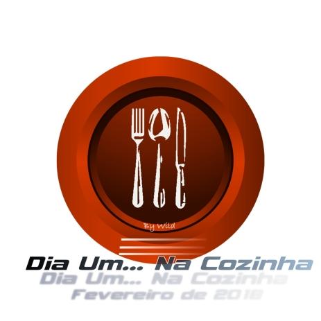 Logotipo Dia Um... Na Cozinha Fevereiro de 2018